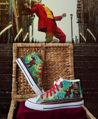 Zapatillas pintadas a mano Joker