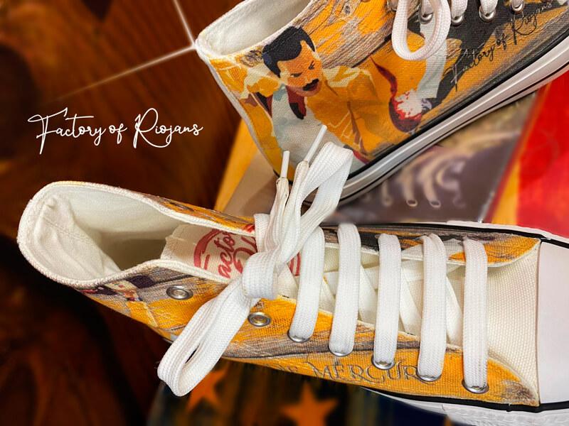 Zapatillas originales del rock con Freddie Mercury