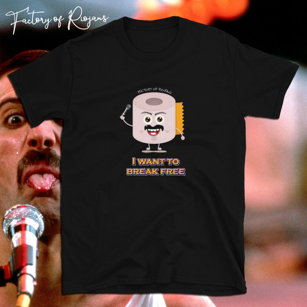 Camiseta unisex Freddie Break Free. Camiseta Unisex de color negro