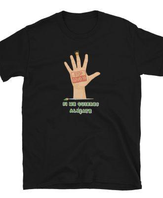 Camiseta unisex color negro Stop covid-19