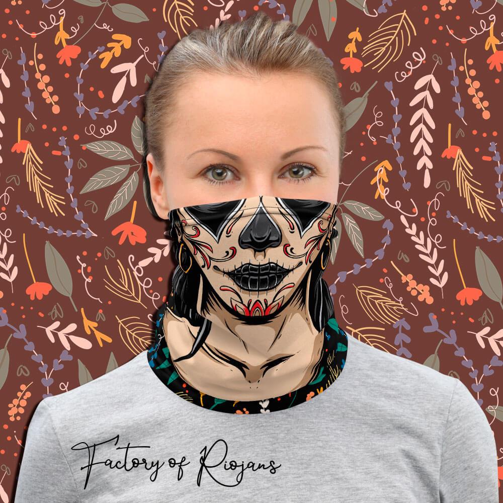 Braga de cuello para mujer estilo mexicano