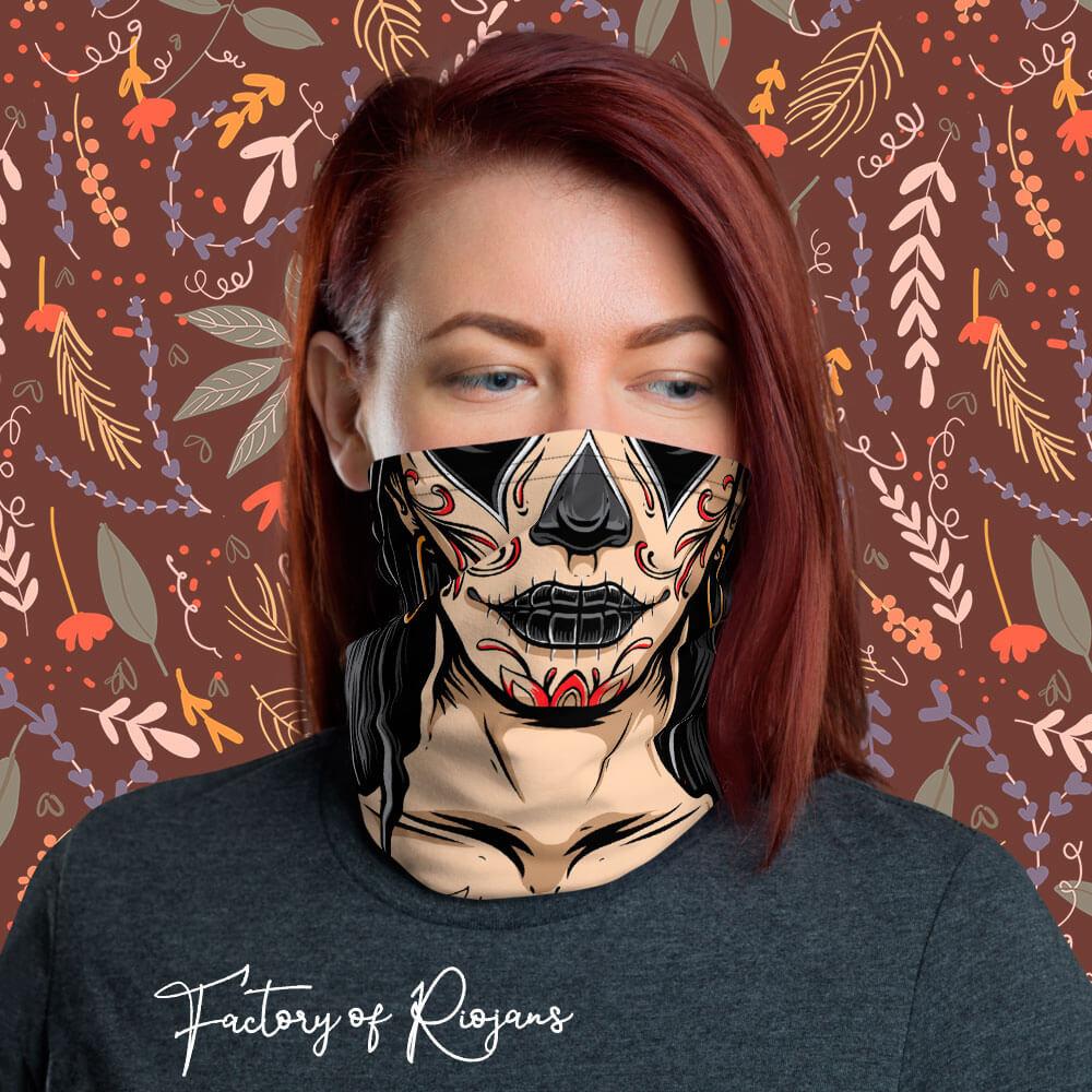 Braga de cuello para mujer maquillaje gótico