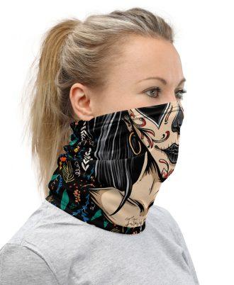 braga cuello mujer lado derecho del diseño
