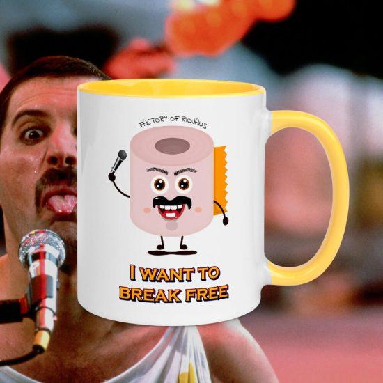 Taza Freddie Mercury I want to Break Free