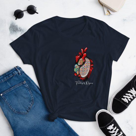 Camiseta manga corta mujer Corazón Azulejos