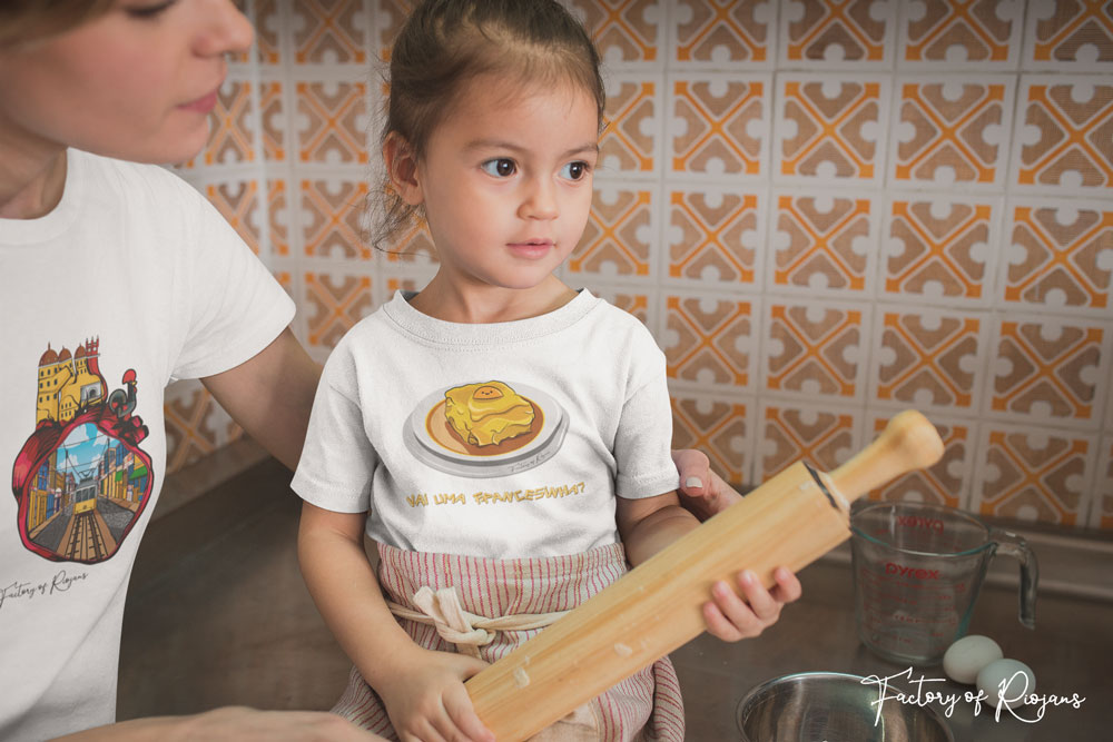 Camiseta para niños con Francesinha Portuguesa