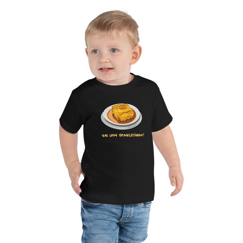 Camisetas de color negro para niños