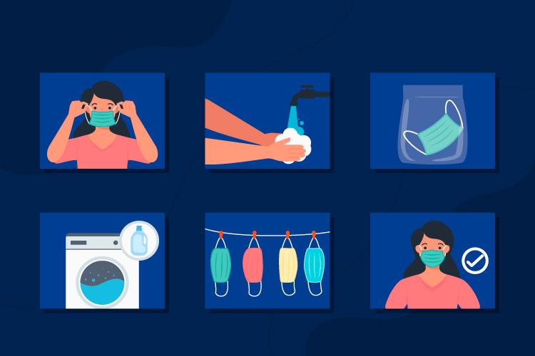 cómo limpiar mascarillas