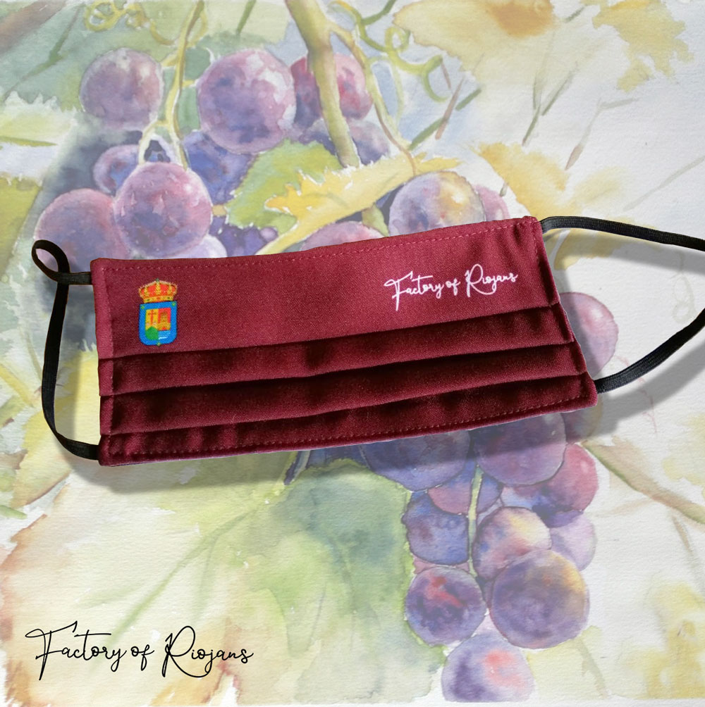 Mascarillas La Rioja de color vino y certificada
