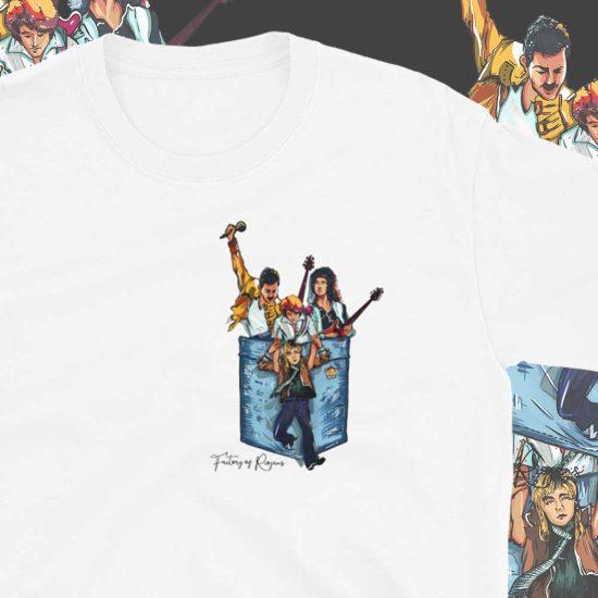 Camiseta con bolsillo grupo Queen