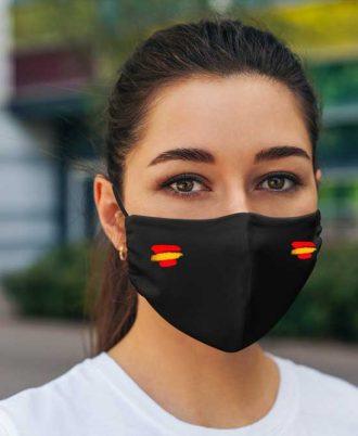 Mascarilla reutilizable para mujer con la bandera española