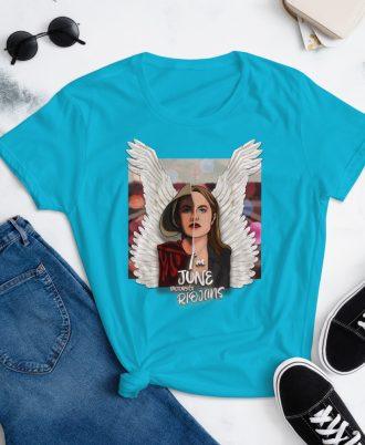 Camiseta mujer color azul El cuento de la criada
