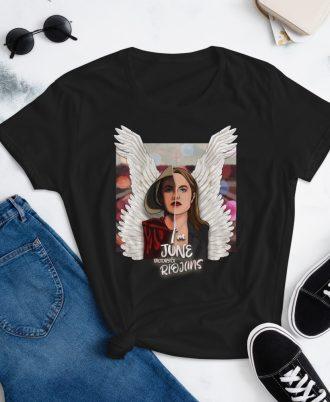 Camiseta mujer color negro El cuento de la criada