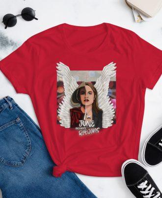 Camiseta mujer color rojo El cuento de la criada