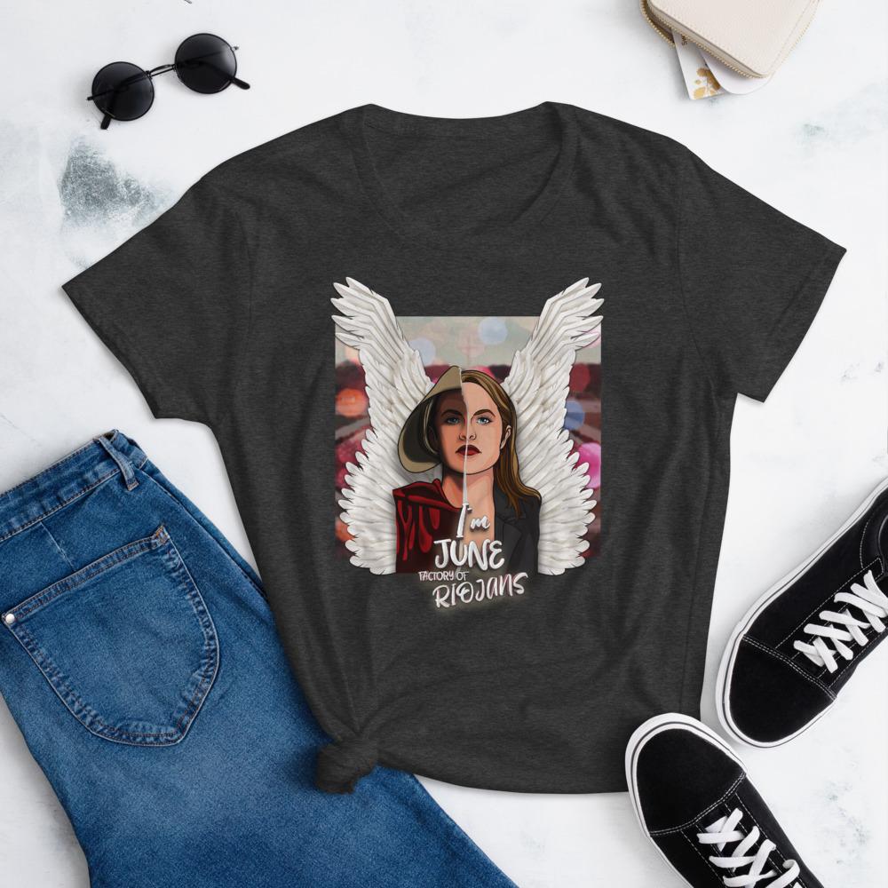Camiseta mujer color gris El cuento de la criada