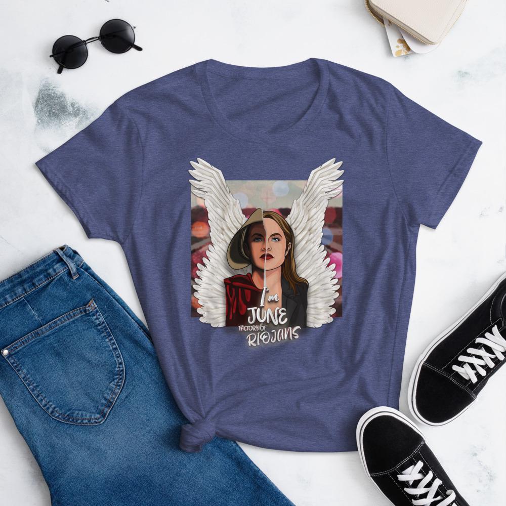 Camiseta mujer color violeta El cuento de la criada