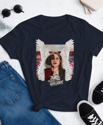 Camiseta mujer color azul marino El cuento de la criada