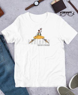 Camiseta blanca de La Rioja con danzador de Anguiano