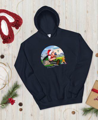 Sudadera azul marino Navidad con Tragantúa