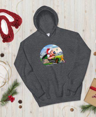 Sudadera gris oscuro Navidad con Tragantúa