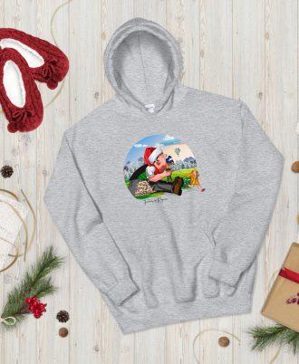 Sudadera gris Navidad con Tragantúa