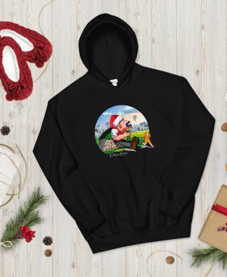 Sudadera negra Navidad con Tragantúa