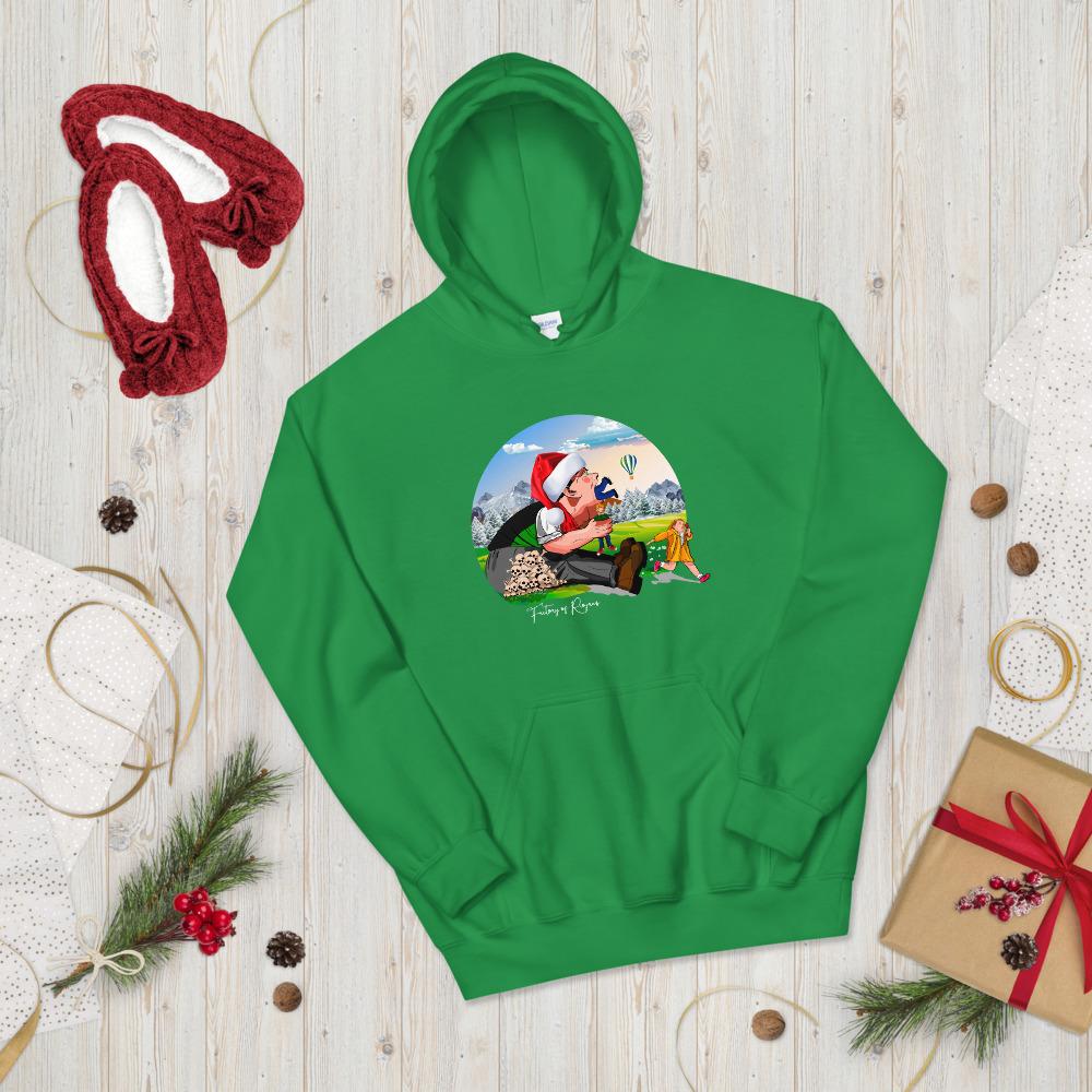 Sudadera verde Navidad con Tragantúa