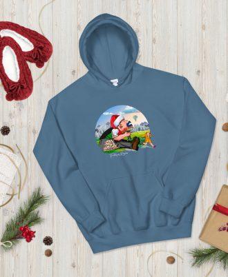 Sudadera azul Navidad con Tragantúa
