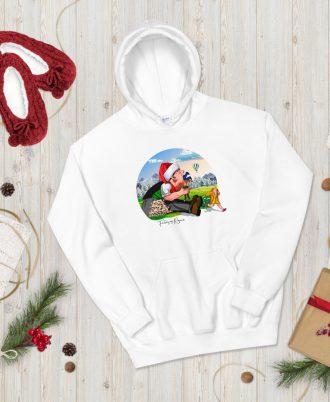 Sudadera Blanca Navidad con Tragantúa