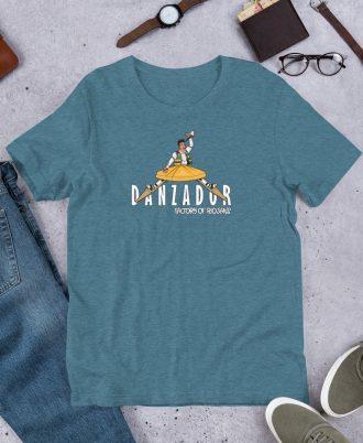 Camiseta jaspeada de La Rioja con danzador de Anguiano