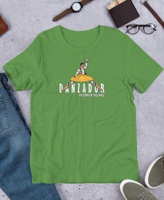 Camiseta verde de La Rioja con danzador de Anguiano