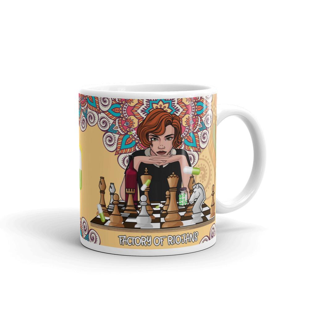 Preciosa taza de la serie Gambito de Dama