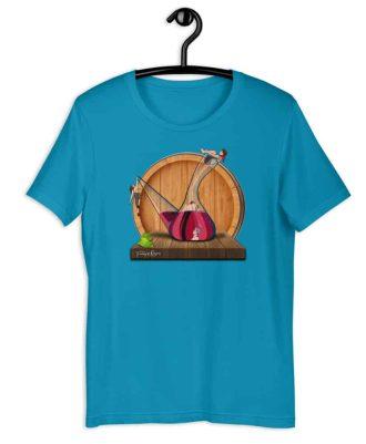 Camiseta sostenible azul claro Amor en Porrón