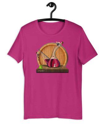 Camiseta sostenible rosa Amor en Porrón