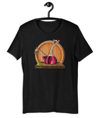 Camiseta sostenible color negro Amor en Porrón