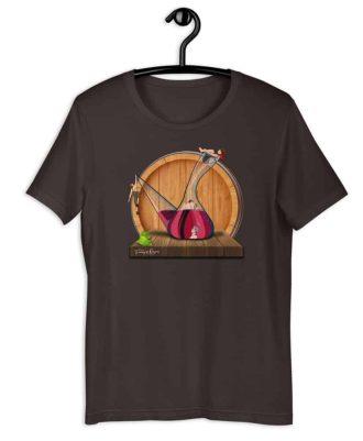 Camiseta sostenible marrón Amor en Porrón