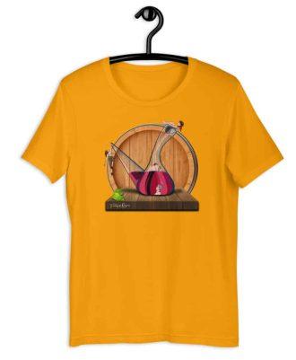 camisetas de color amarillo Amor en porrón