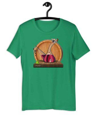 Camiseta sostenible verde Amor en Porrón