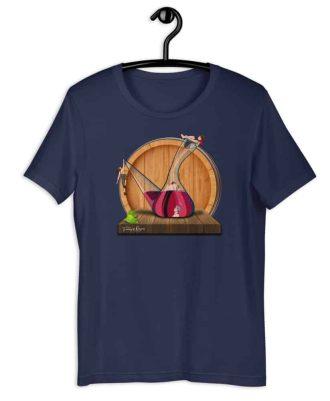 Camiseta sostenible violeta Amor en Porrón