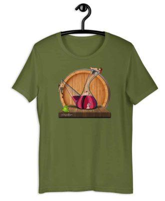 Camiseta sostenible verde oliva Amor en Porrón