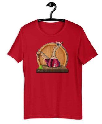 Camiseta sostenible roja Amor en Porrón