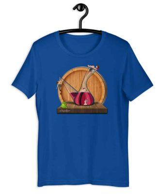 Camiseta sostenible azul Amor en Porrón