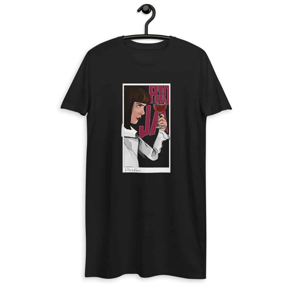 Vestido camiseta color negro de Pulp Fiction