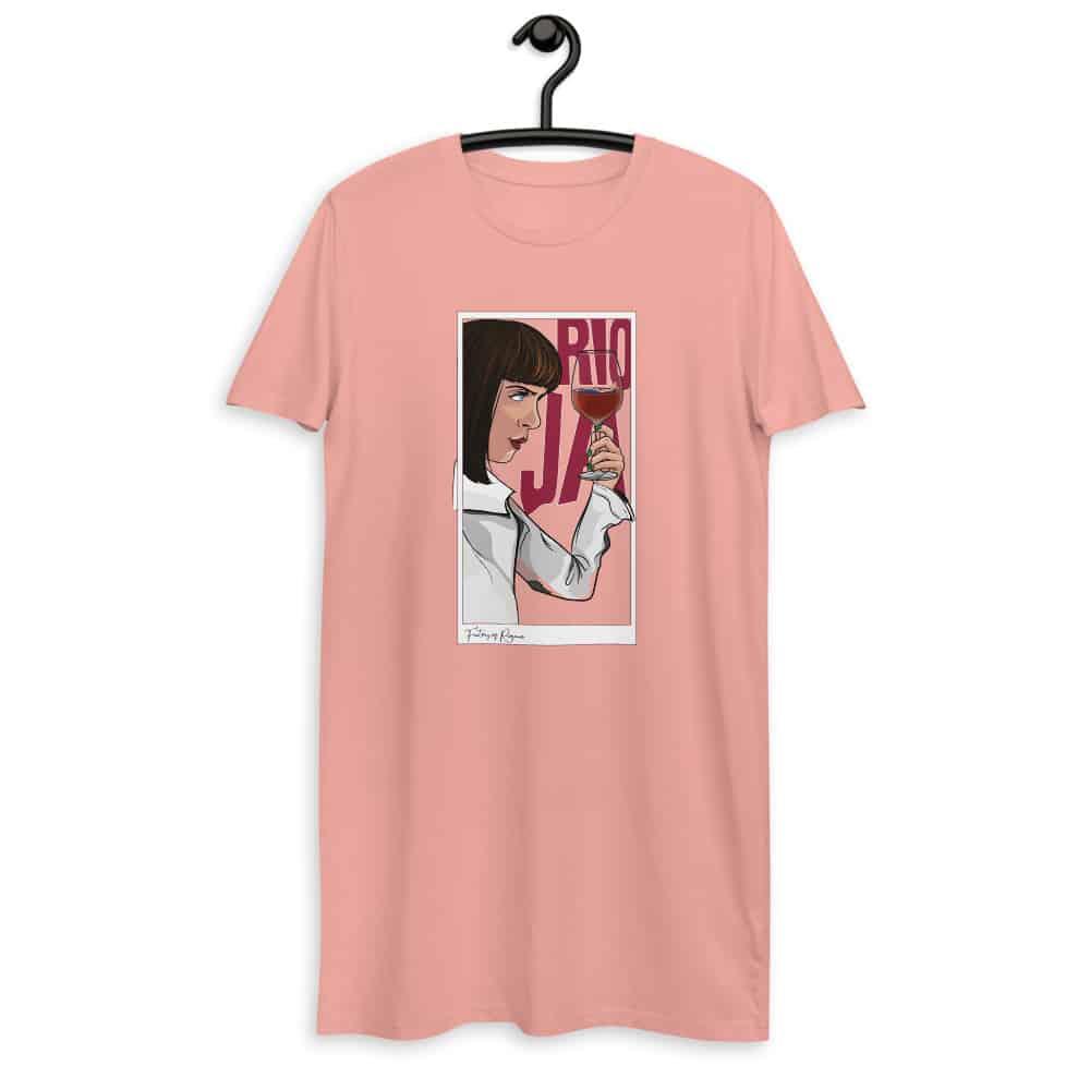 Vestido camiseta en rosa de Pulp Fiction