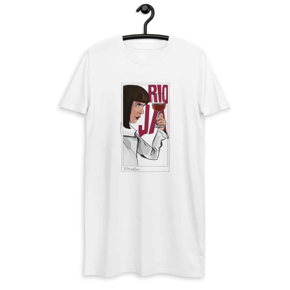 Vestido camiseta en blanco de Pulp Fiction