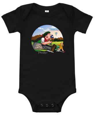 Body negro de bebé con Tragantua