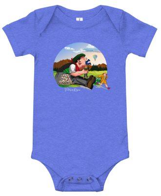 Body de bebé azul con Tragantua