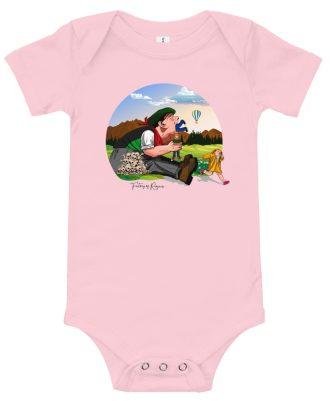 Body de bebé rosa con Tragantua
