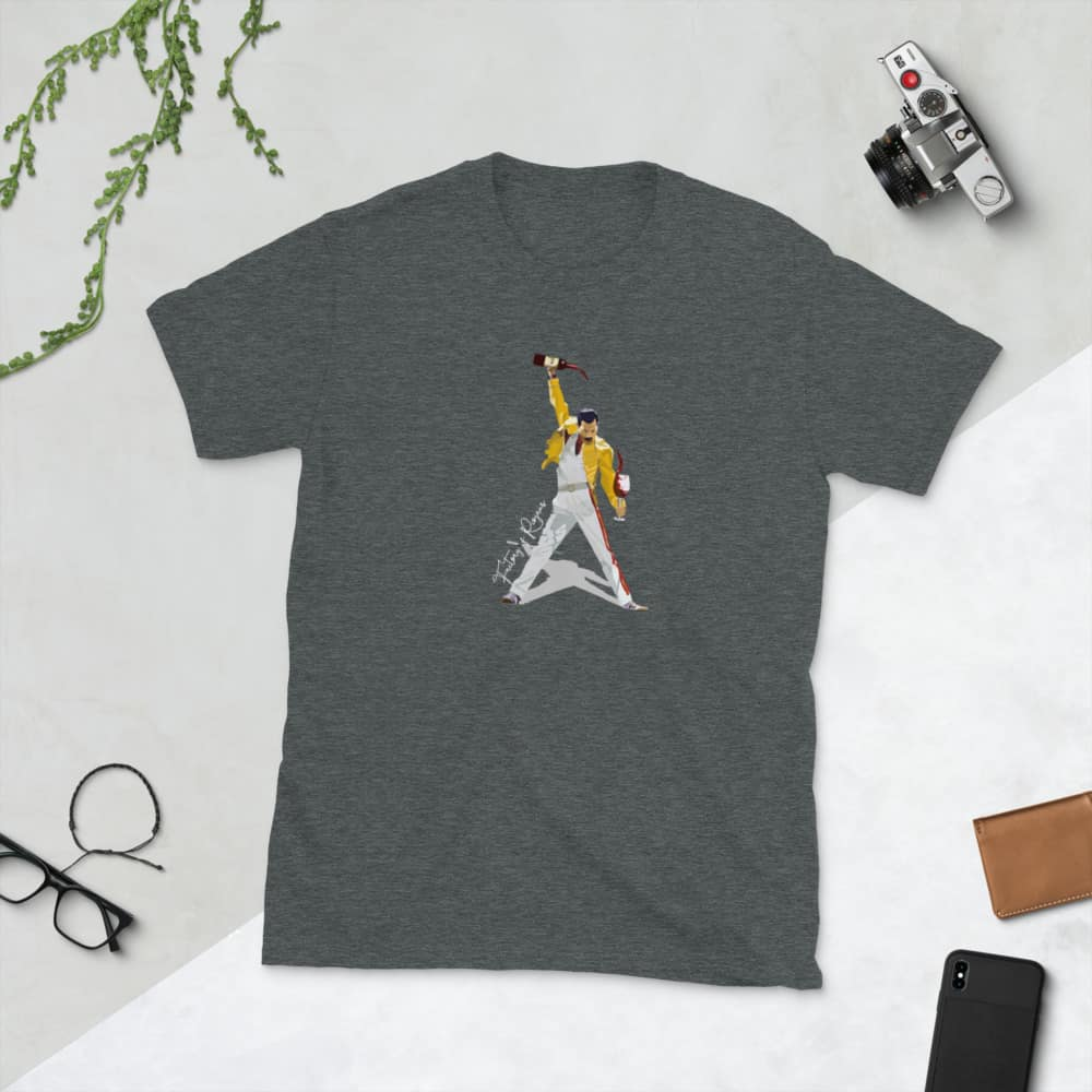 Camisetas manga corta gris oscuro Freddie Mercury