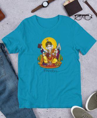 Camiseta Dios del Vino color azul claro